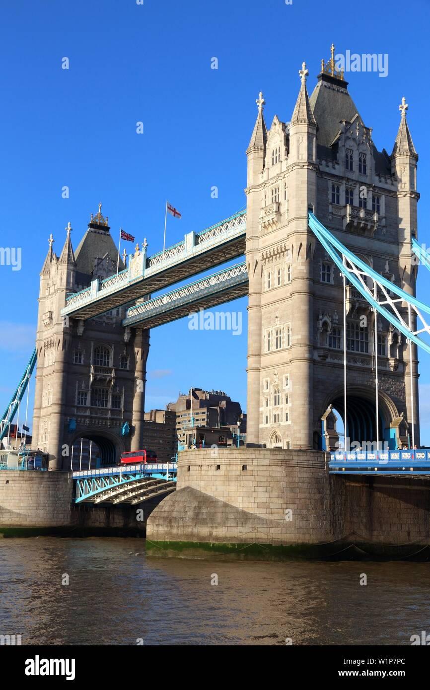 Tower Bridge - landmark in London, United Kingdom. - Stock Image
