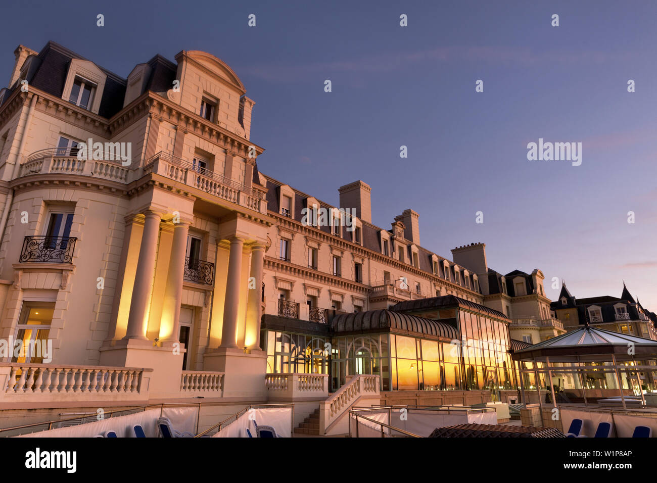 Le Grand Hotel Des Thermes St Malo Bretagne France Stock Photo