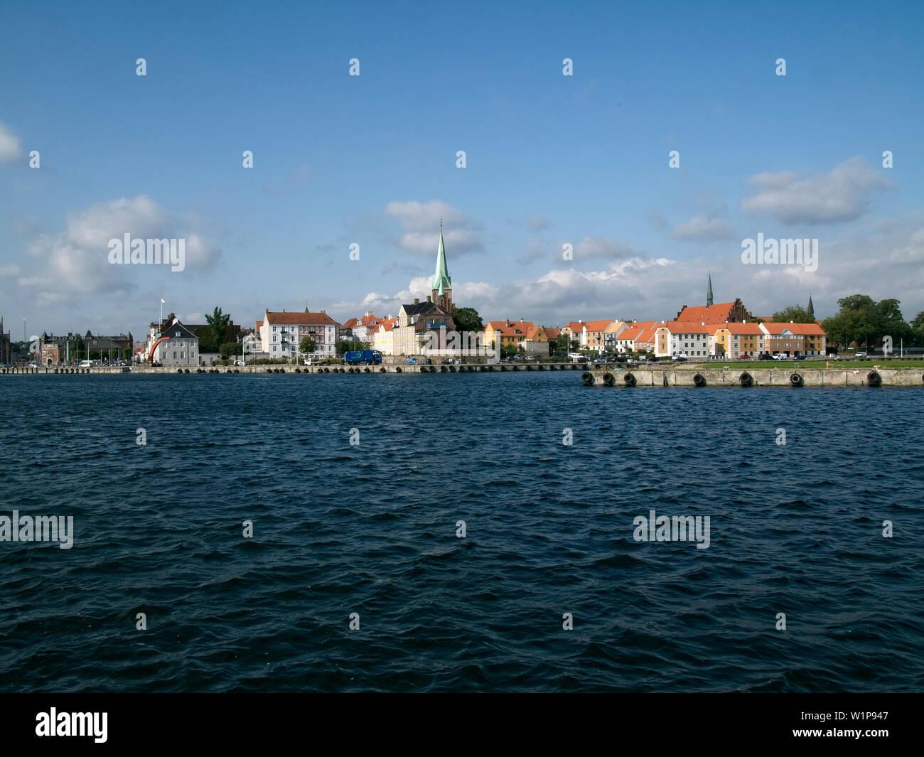 Port of Helsingoer, Sjaelland, Denmark - Stock Image