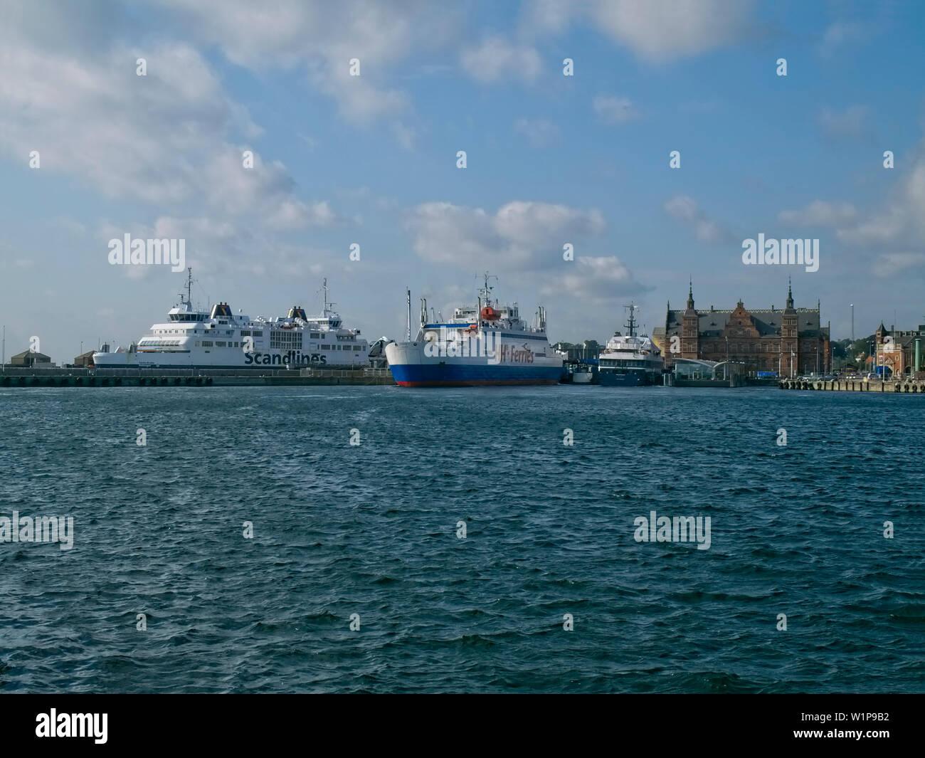 Ferry port of Helsingoer, Sjaelland, Denmark - Stock Image