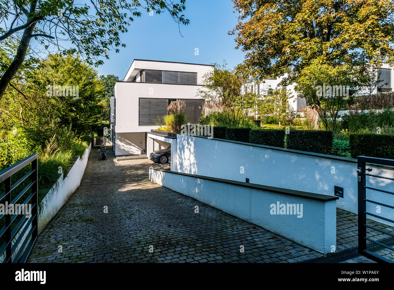 Modern Architecture Villa In Hamburg North Germany Germany Stock