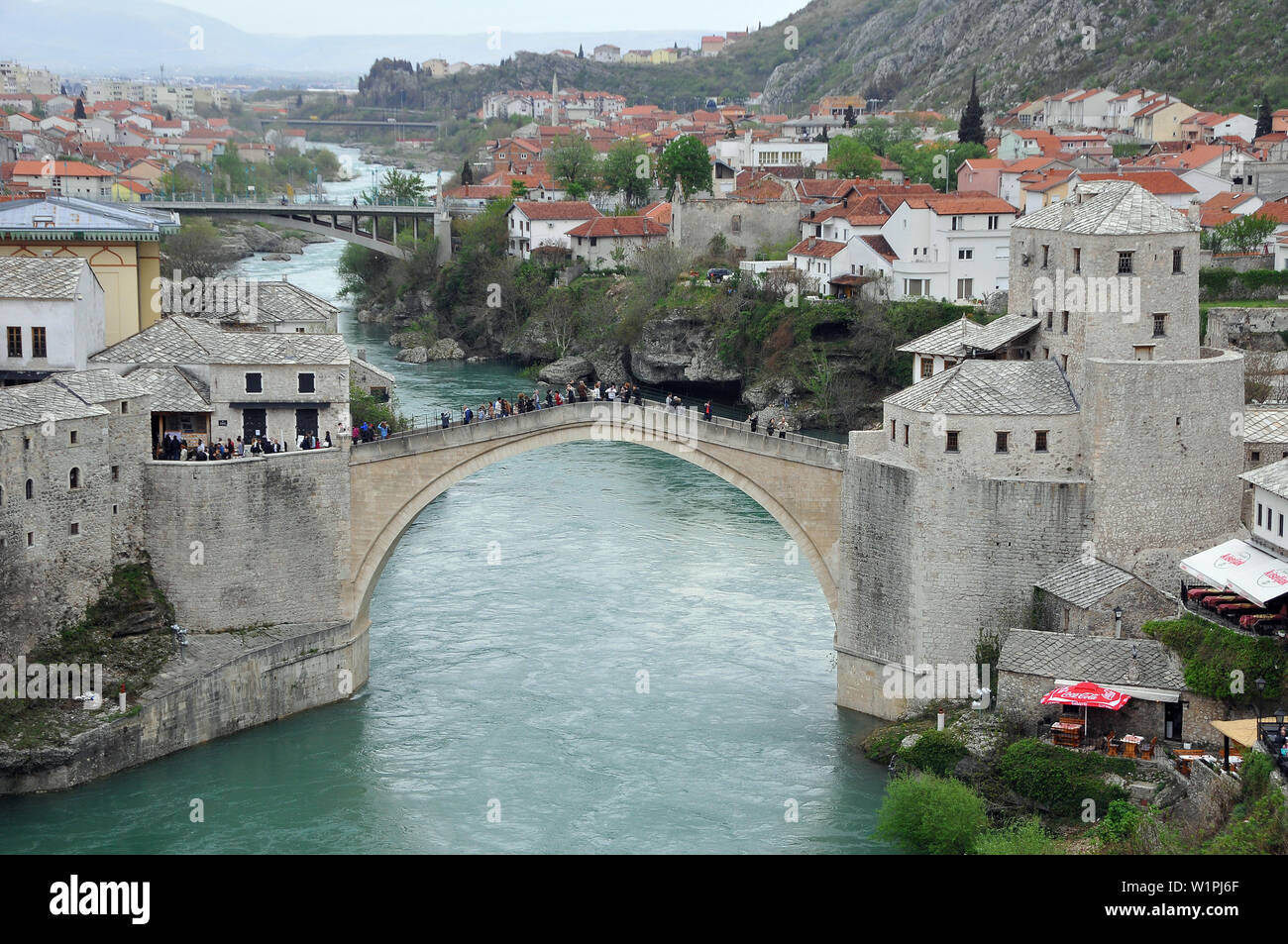 The Old Bridge In The Heart Of The Old City Mostar Bosnia And