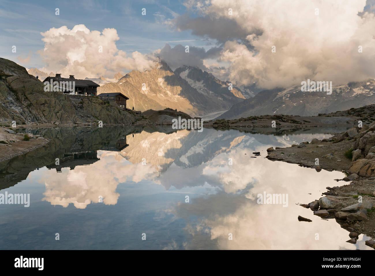 Lac Blanc, Aiguille du Chardonnet, Haute-Savoie, France - Stock Image