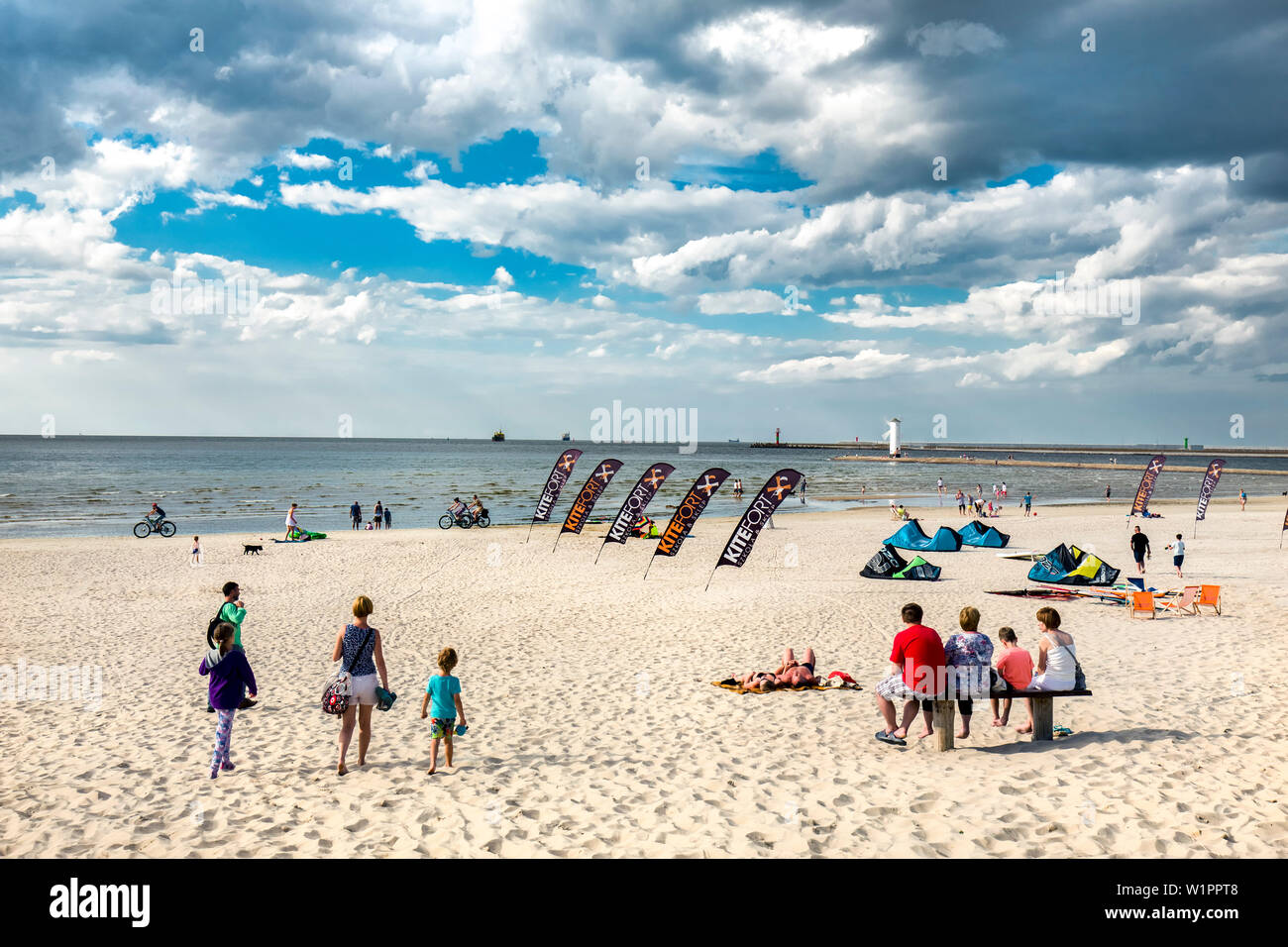 Beach, Swinemünde, Usedom, Poland Stock Photo