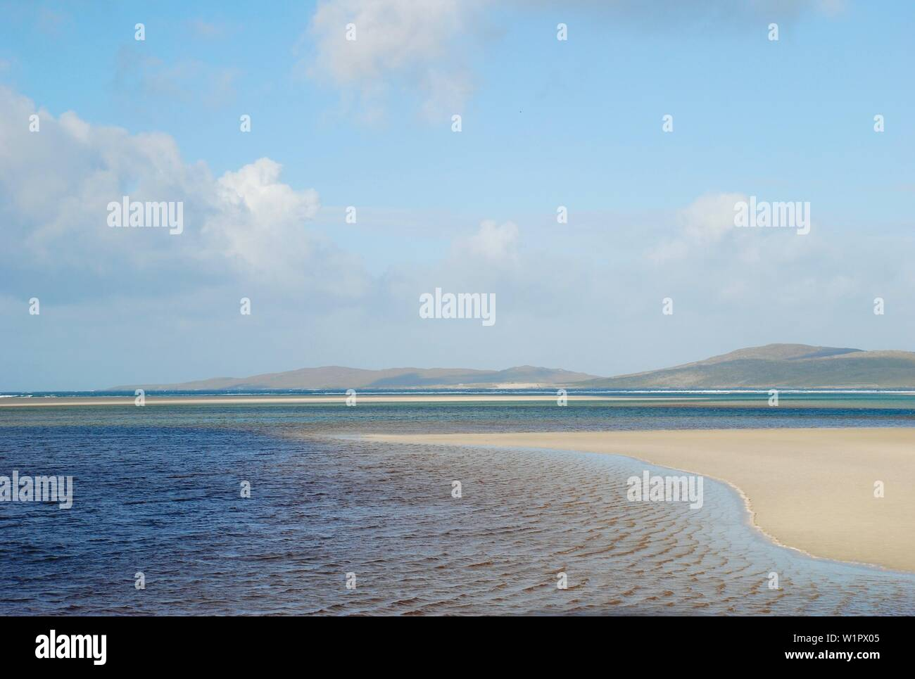 The beach at Luskentyre, Isle of Harris, Outer Hebrides - Stock Image