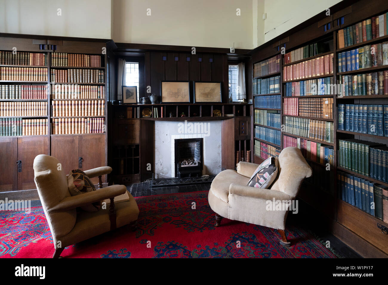 Interior of Hill House designed for Walter Blackie by Charles Rennie Mackintosh, Helensburgh, Scotland, UK Stock Photo