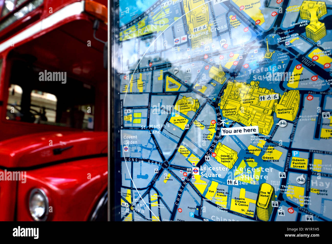 Map Central London Uk.London England Uk Tourist Map In Central London You Are Here