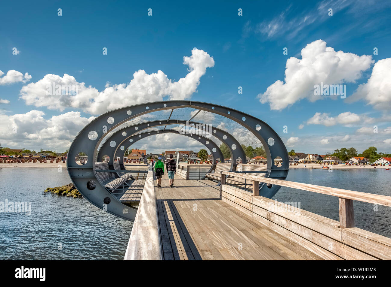 Pier, Kellenhusen, Baltic coast, Schleswig-Holstein, Germany Stock Photo