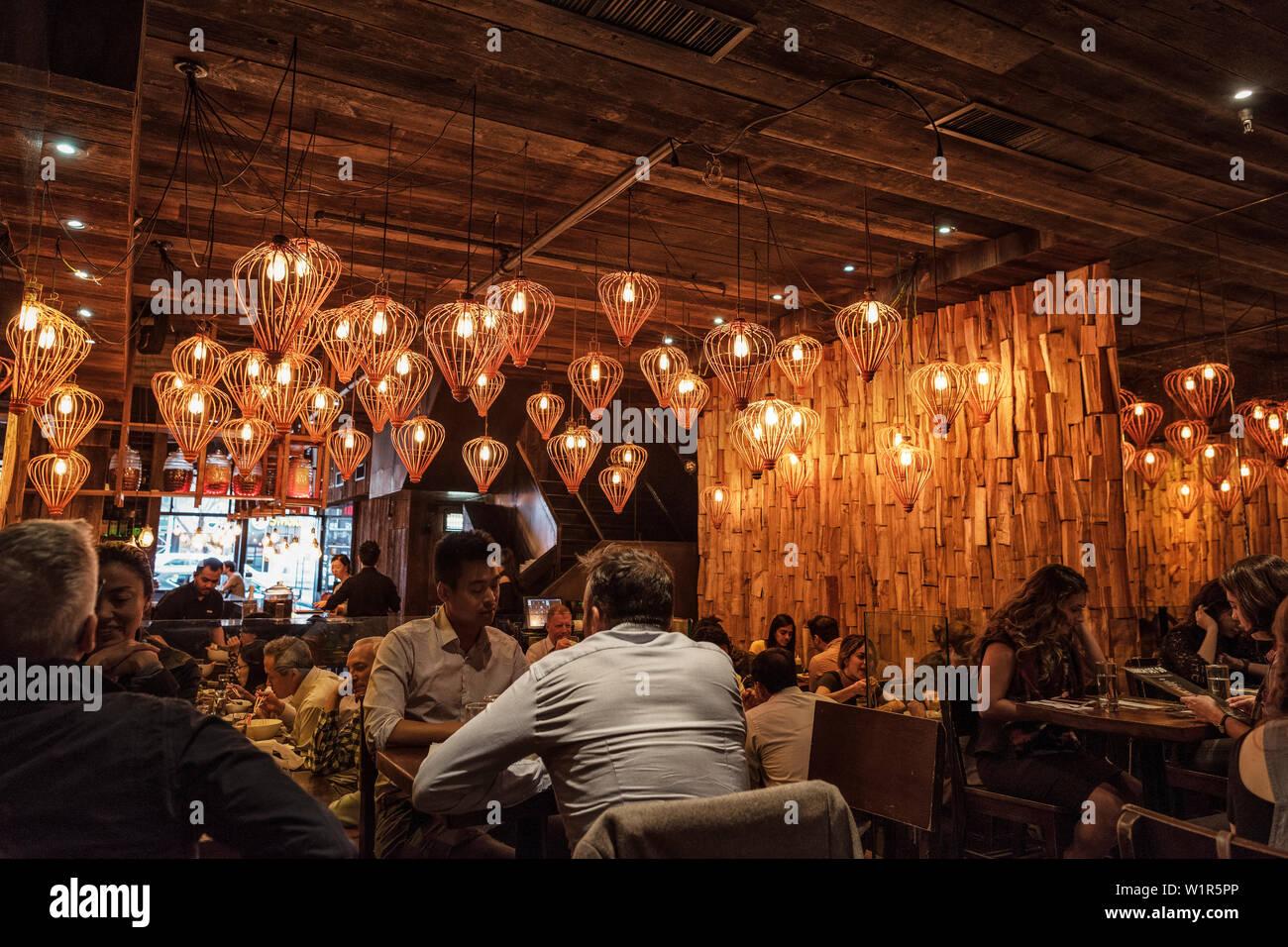 Stylish Restaurant Manhattan Nyc New York City United