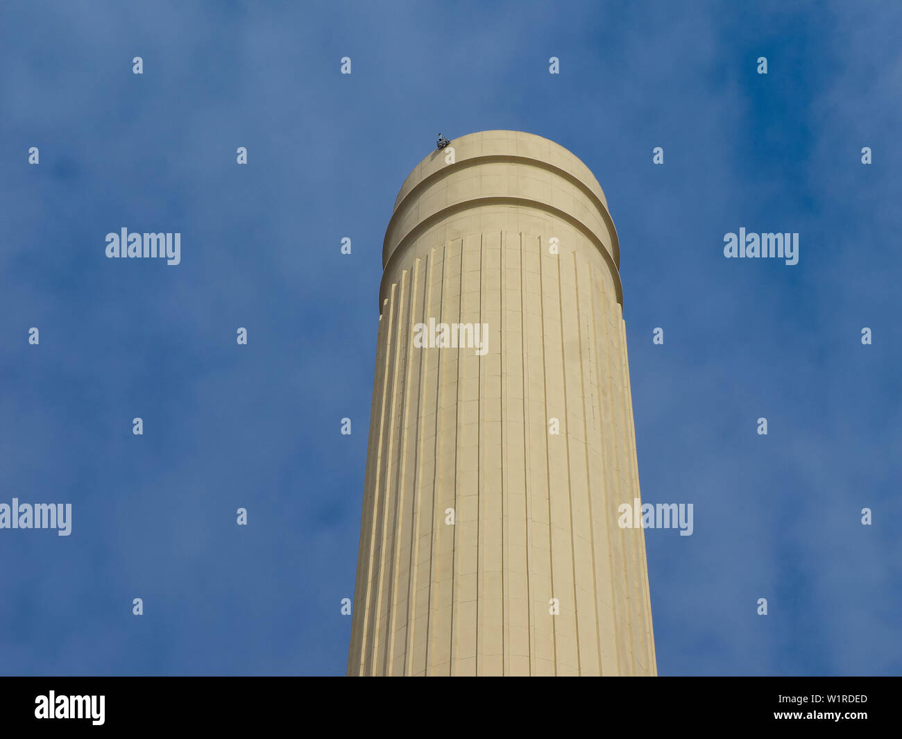 Chimne of Battersea Power Station in London, UK - Stock Image