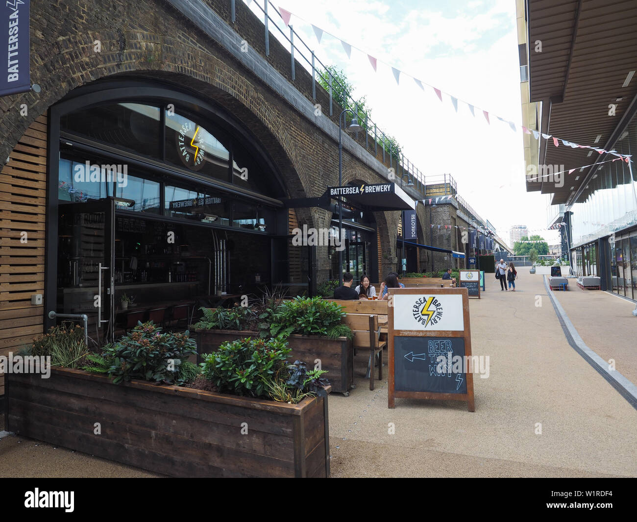 LONDON, UK - CIRCA JUNE 2019: Circus West village at Battersea Power Station - Stock Image
