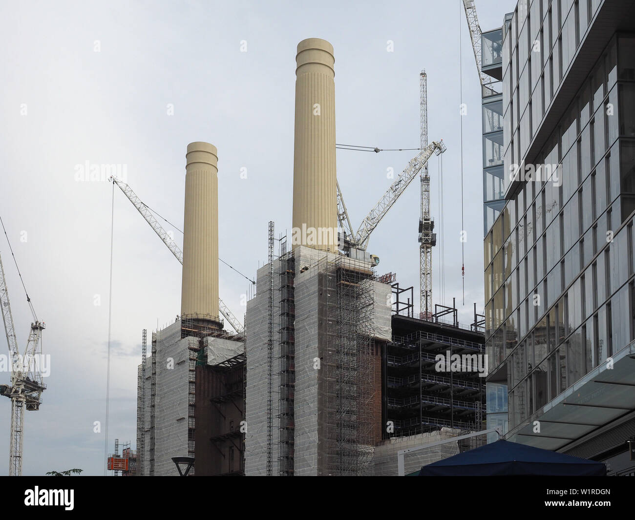LONDON, UK - CIRCA JUNE 2019: Battersea Power Station redevelopment building site - Stock Image