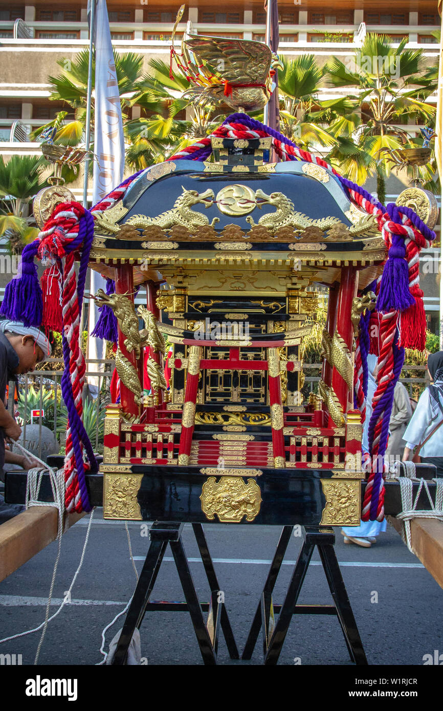 Mikoshi from Japan in Asia Africa Festival 2019 - Stock Image