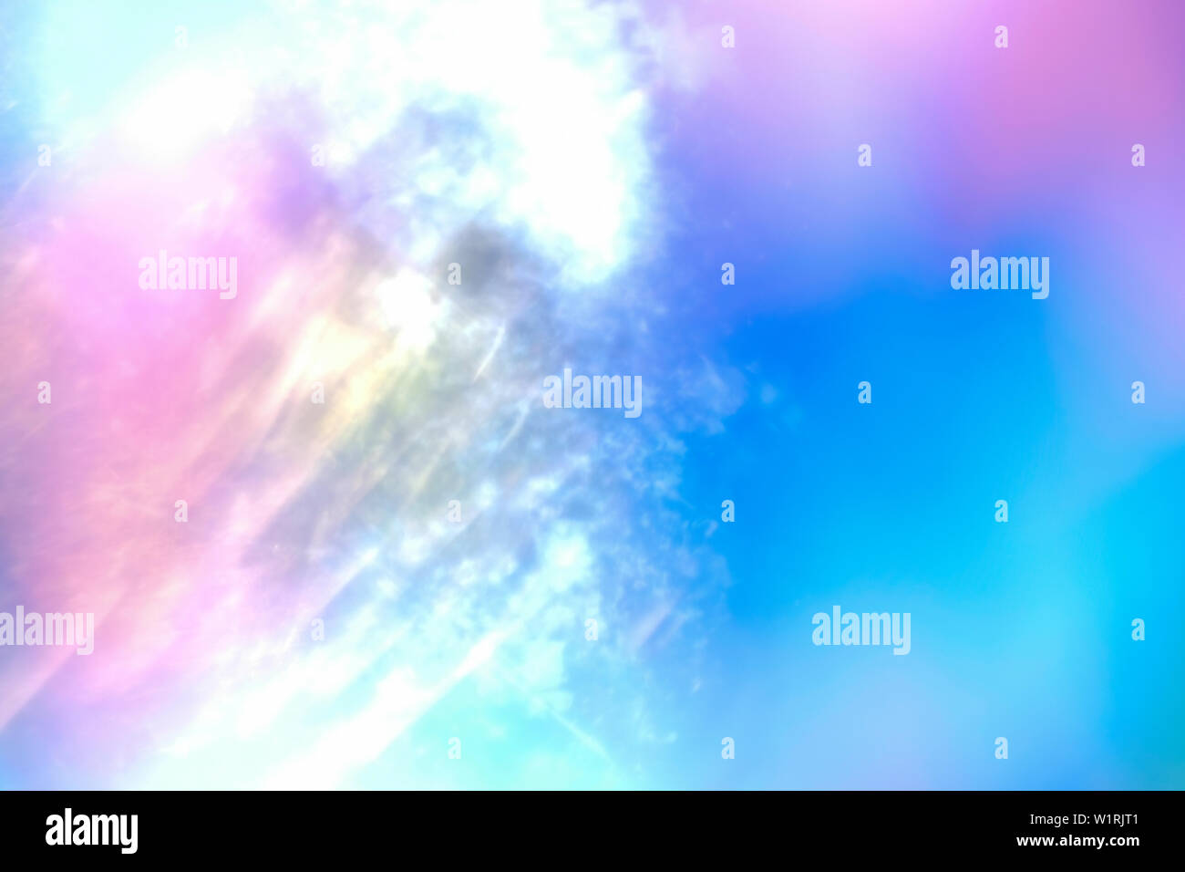 Bright Abstract Sky With Glare Background Colorful Pink