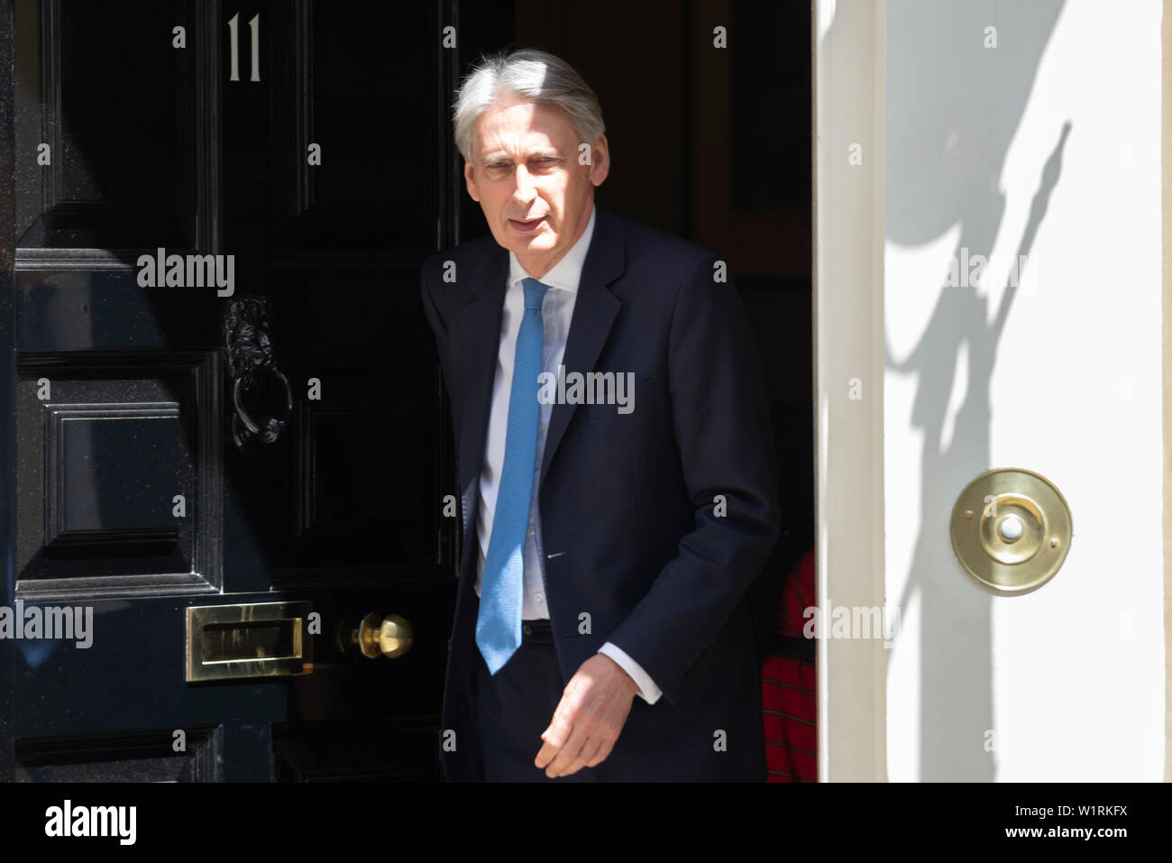 London, UK. 3 July 2019. Chancellor of the Exchequer Philip Hammond departs Downing Street for the House of Commons. Credit: Claire Doherty/Alamy Live News Stock Photo