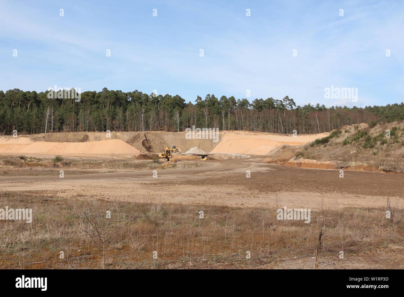 Tagebau auf dem Gelände der Stadt Alzenau in Bayern - Stock Image