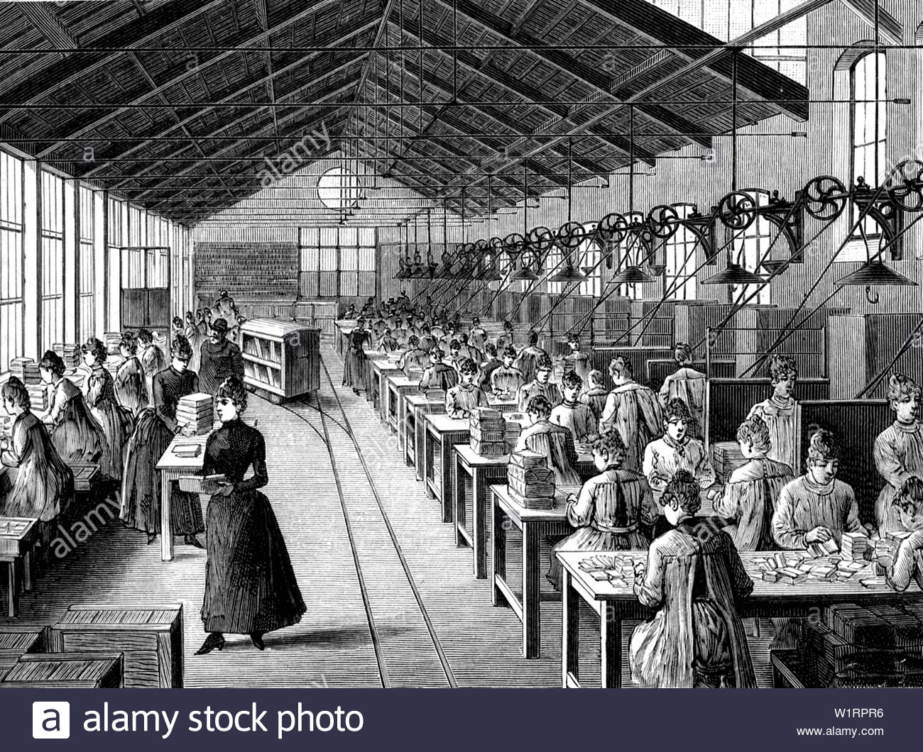 Notizie oltre la storia... Safety-matches-factory-in-1889-W1RPR6