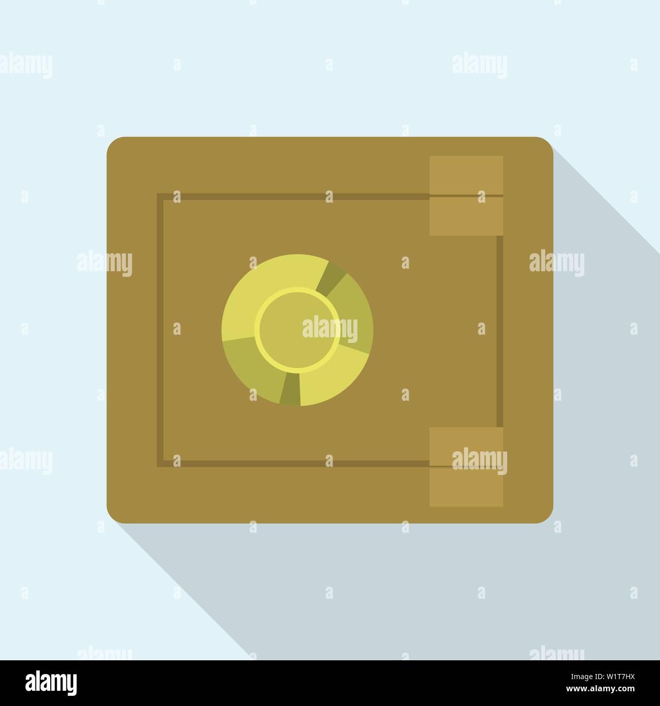 Money safe icon, flat style - Stock Image