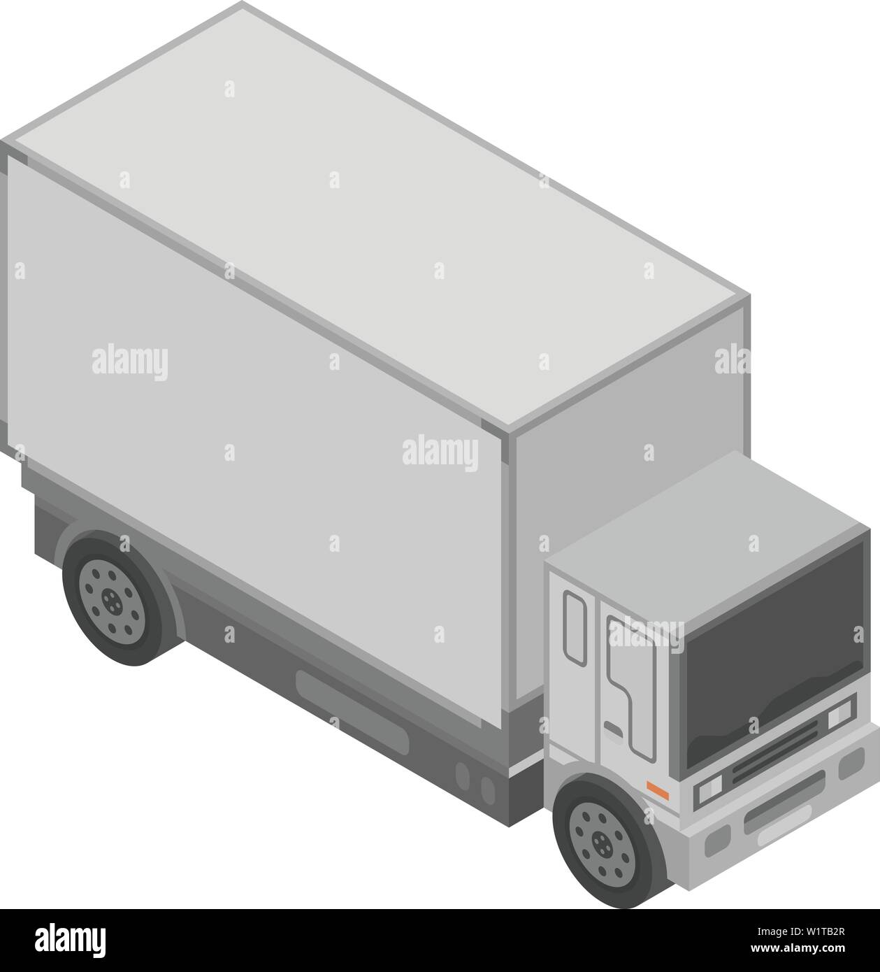 Delivery truck icon, isometric style - Stock Image
