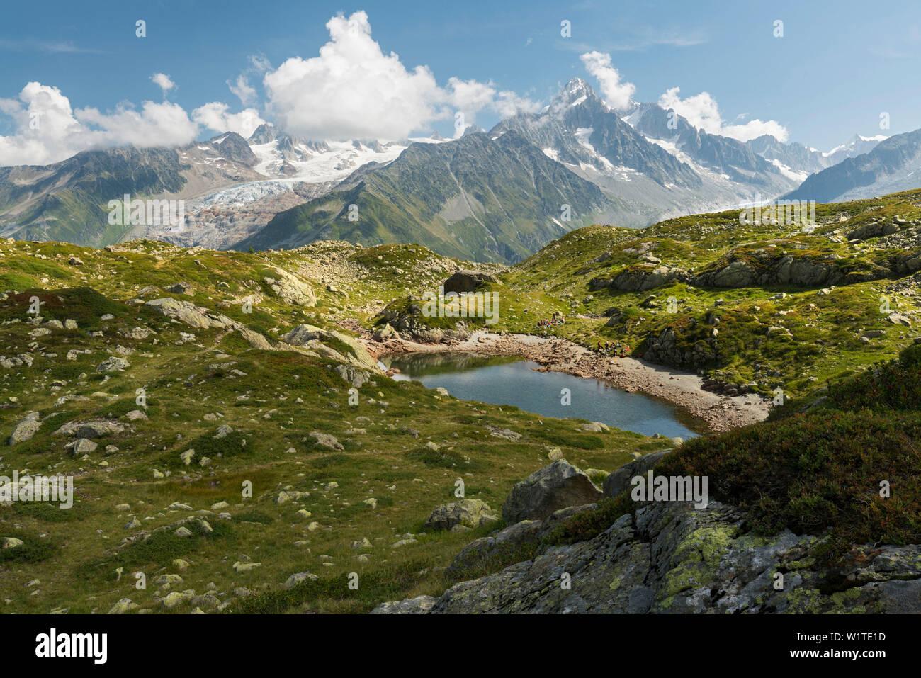 Lacs des Cheserys, Aiguille du Chardonnet, Haute-Savoie, France - Stock Image