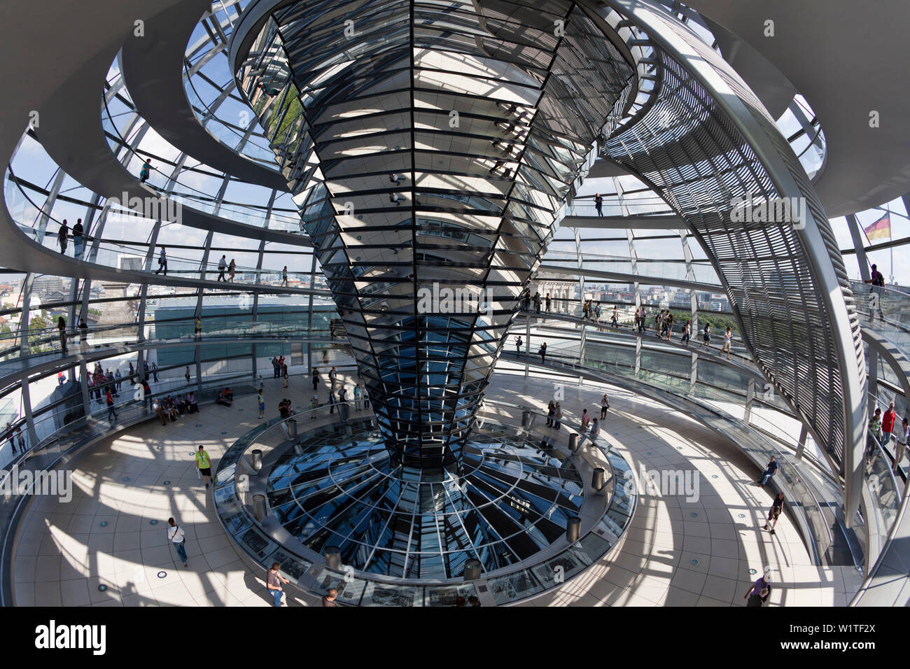Reichtstag dome interieur, Architect Sir Norman Forster, Berlin Stock Photo