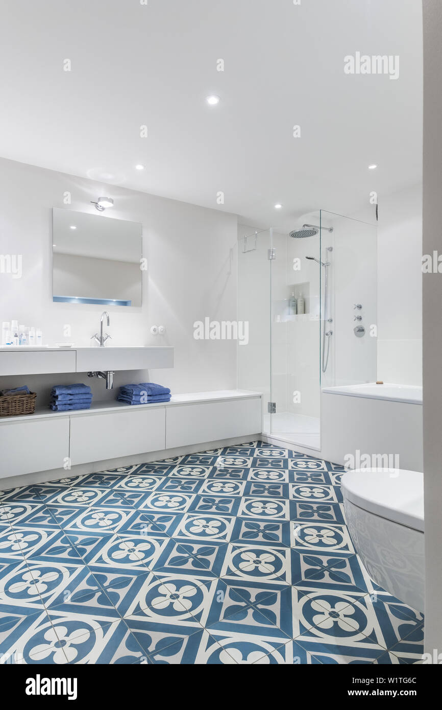 Bathroom In A Modern Furnished Art Nouveau Apartment In