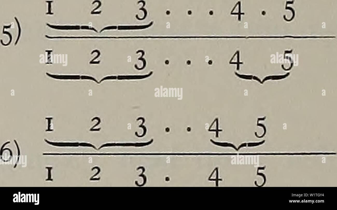 Archive image from page 483 of Denkschriften der Medicinisch-Naturwissenschaftlichen Gesellschaft zu. Denkschriften der Medicinisch-Naturwissenschaftlichen Gesellschaft zu Jena  denkschriftender1104medi Year: 1879 1 2 3 â , . 4 . 5 3) 1 2 J â _3 â ⢠4_ ⢠4 ⢠j 5 4) 1 2 1 2 3 ⢠' i _5 1 2 3 4 5 7) â.-â -, i 2 3 ⢠4 5    Descendenz (21. Aug. 1901). Noch kein Exemplar erwachsen. Die Zucht (zum Teil tot, zum Teil noch lebend) besteht aus No. 1â31. 31 Exemplare von 3â4,3 mm, davon sind 20 Exemplare = 00300 11 Exemplare ohne kenntliche Bänderung (z. Teil schmutzig). No. 32. 1 Exemplar von 5 mm - Stock Image