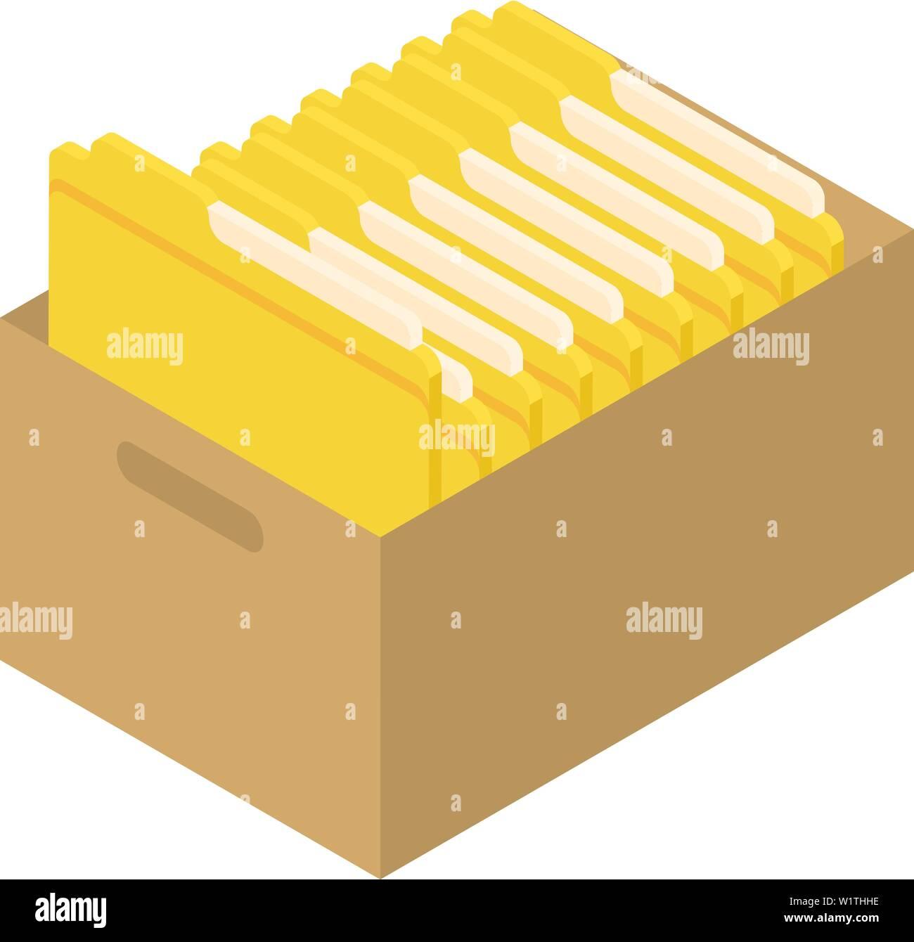 Archive folder icon, isometric style - Stock Image