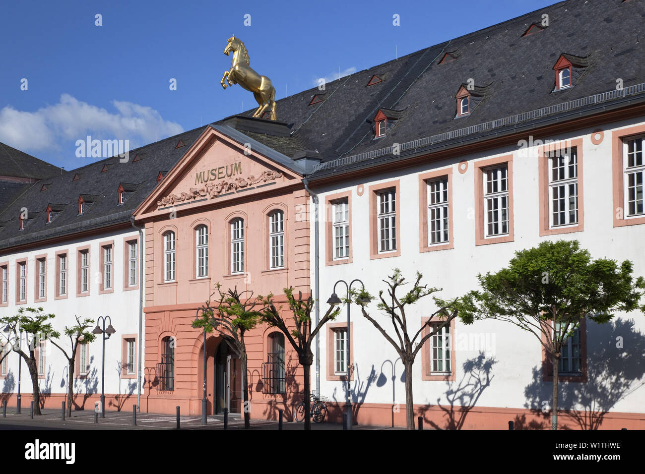 Entrance of the State Museum Mainz in the electoral stables, Mainz, Rhineland-Palatinate, Germany, Europe - Stock Image