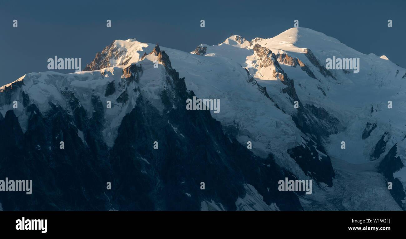 Aiguille du Midi, Montblanc, Haute-Savoie, France - Stock Image