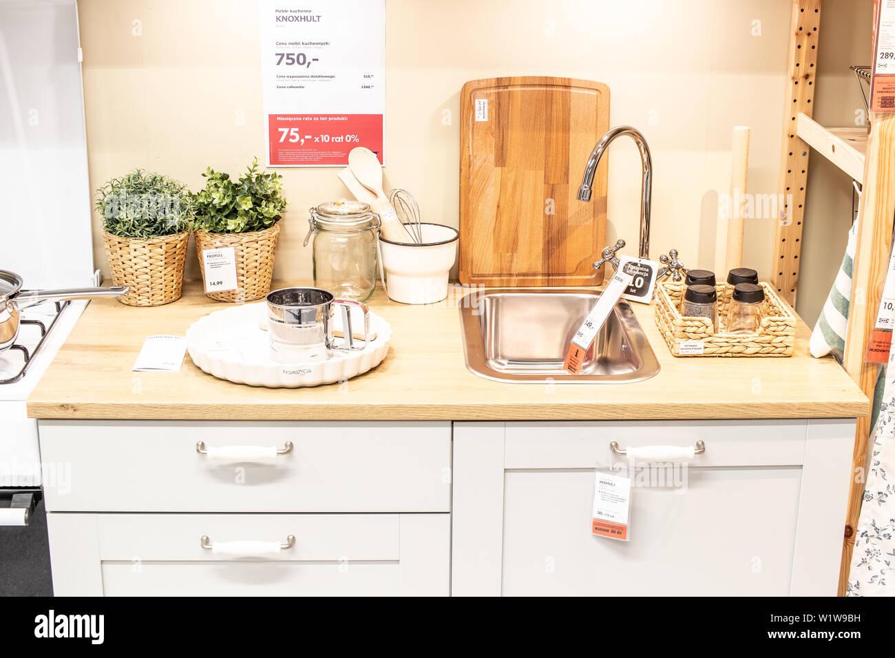 Lodz Poland Jan 2019 Exhibition Interior Ikea Store