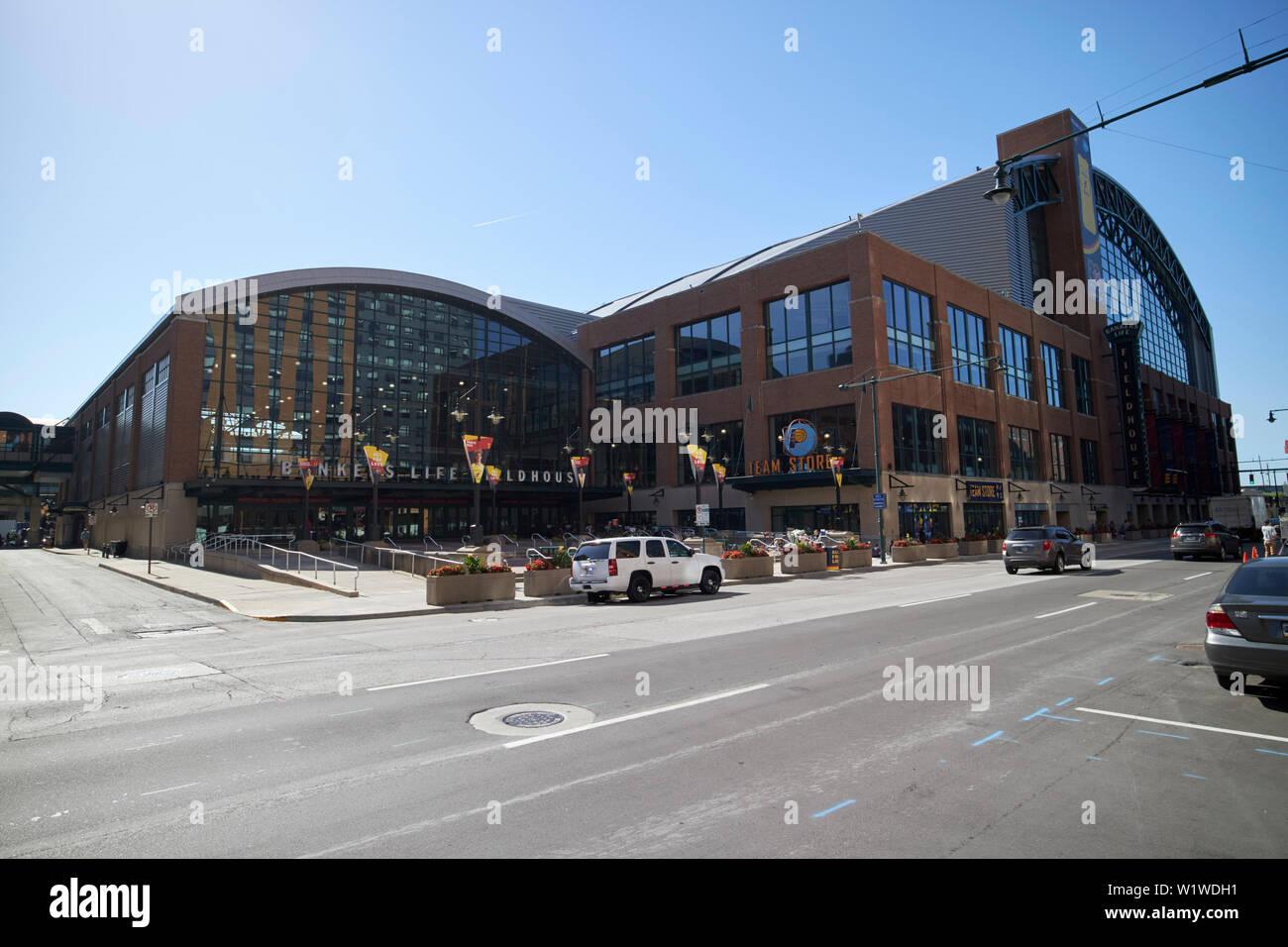 bankers life fieldhouse stadium Indianapolis Indiana USA - Stock Image