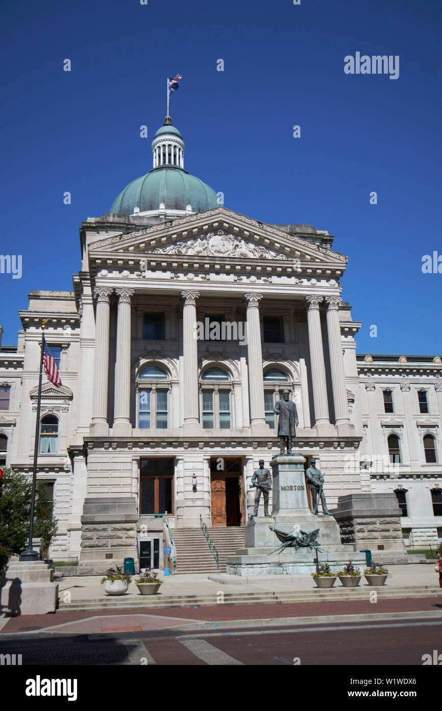 Indiana statehouse state capitol building Indianapolis Indiana USA - Stock Image