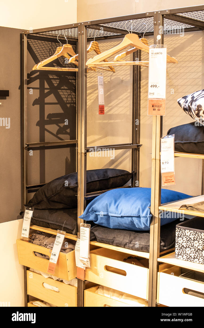 Lodz Poland Jan 2019 Exhibition Interior Ikea Store Modern Home Equipment Ikea Sells Ready To Assemble Furniture Appliances Home Accessories Stock Photo Alamy