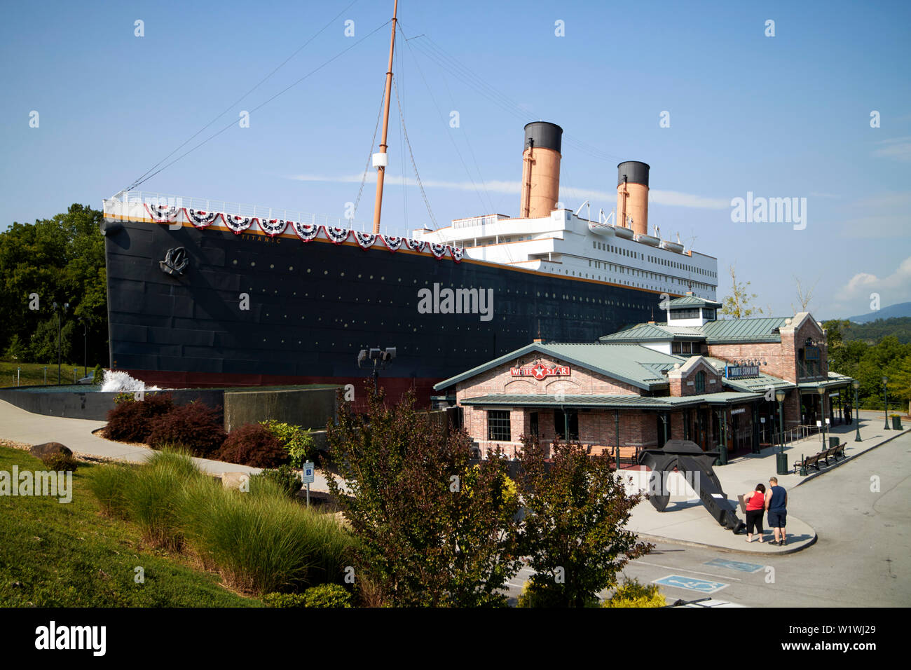 The titanic museum attraction Pigeon Forge, Tennessee, USA - Stock Image