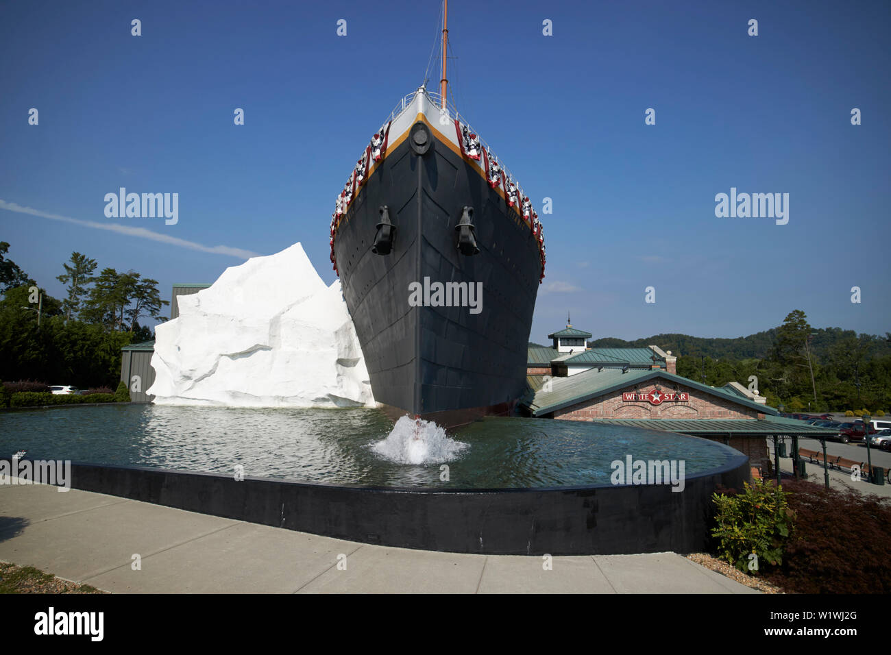 The titanic museum attraction complete with iceberg Pigeon Forge, Tennessee, USA - Stock Image