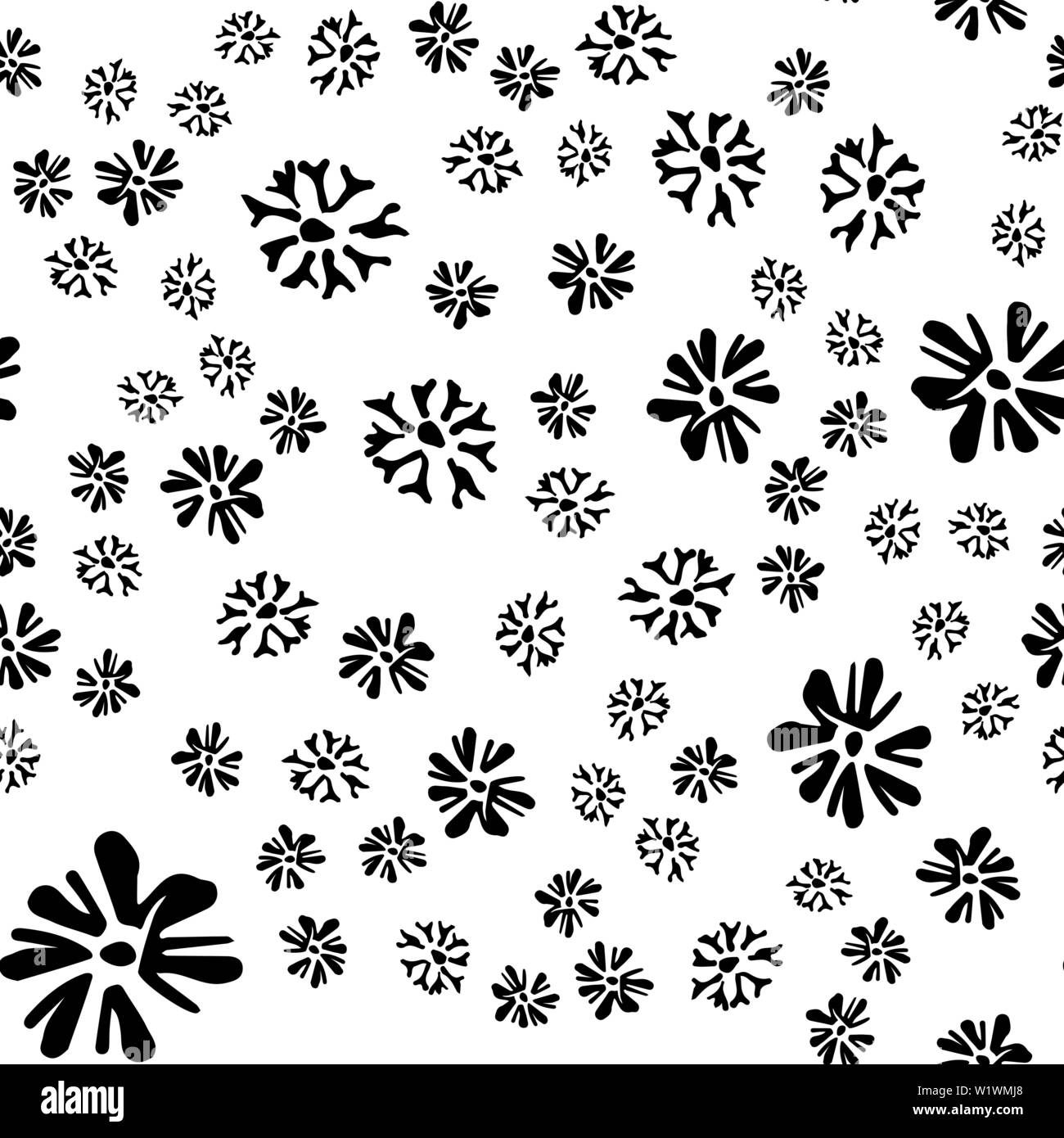 Chamomile Vector Seamless Pattern In Sketch Style Seamless