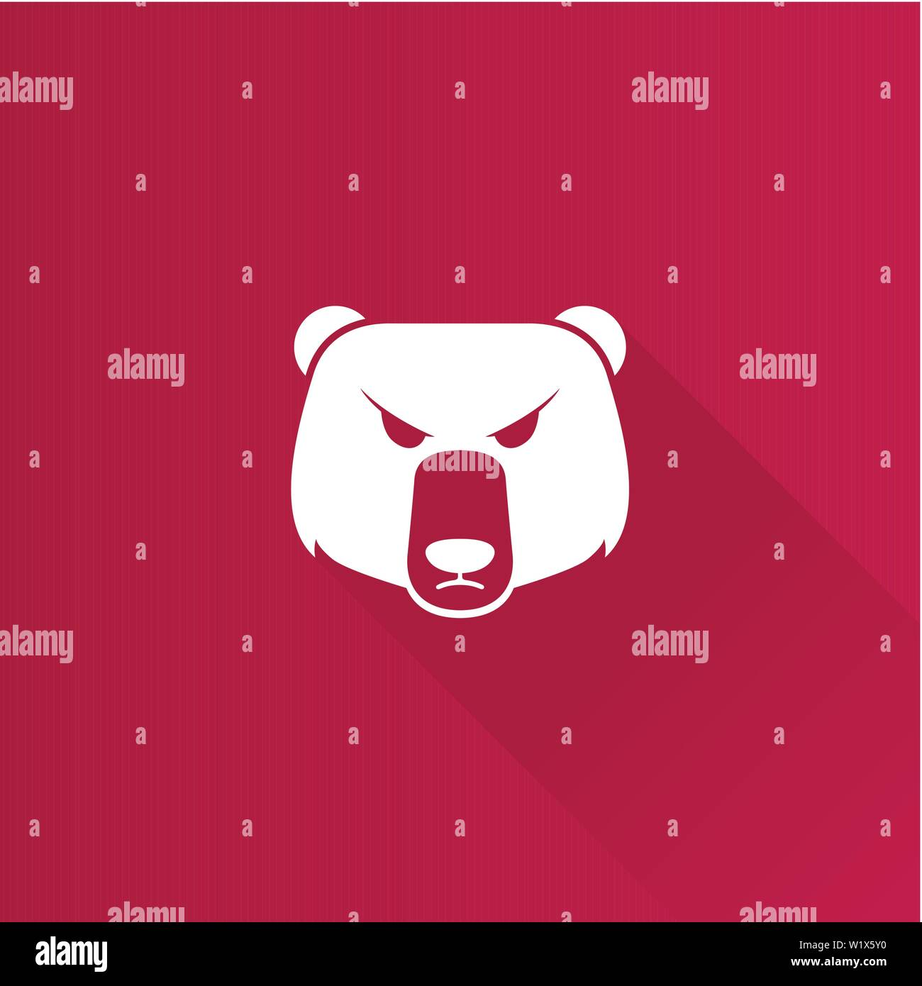 Bear icon in Metro user interface color style. Finance speculation trend Stock Vector