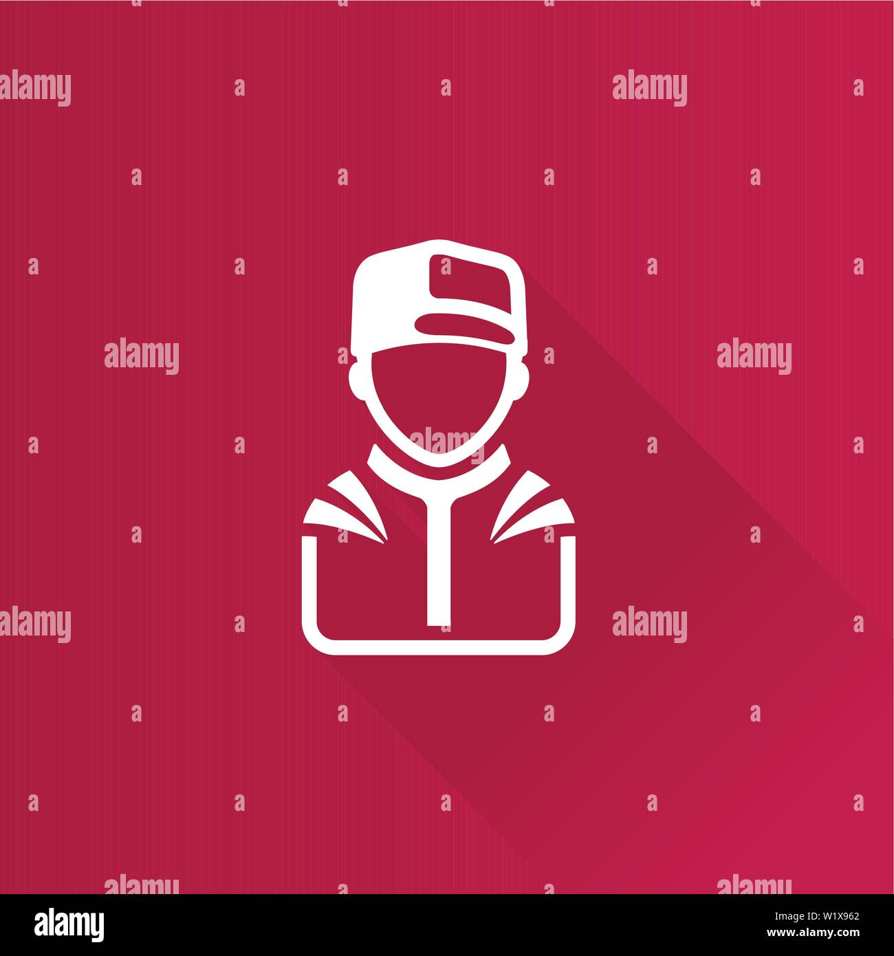 Racer avatar icon in Metro user interface color style. Sport transportation automotive Stock Vector