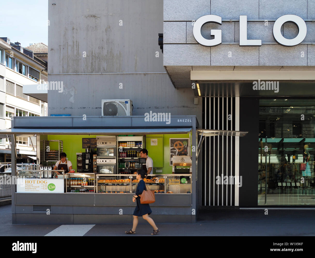 Globus in Zürich Stock Photo