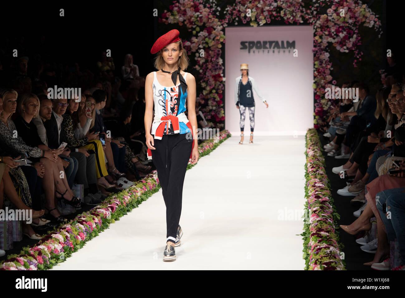 Berlin, Germany  03rd July, 2019  A model walk during