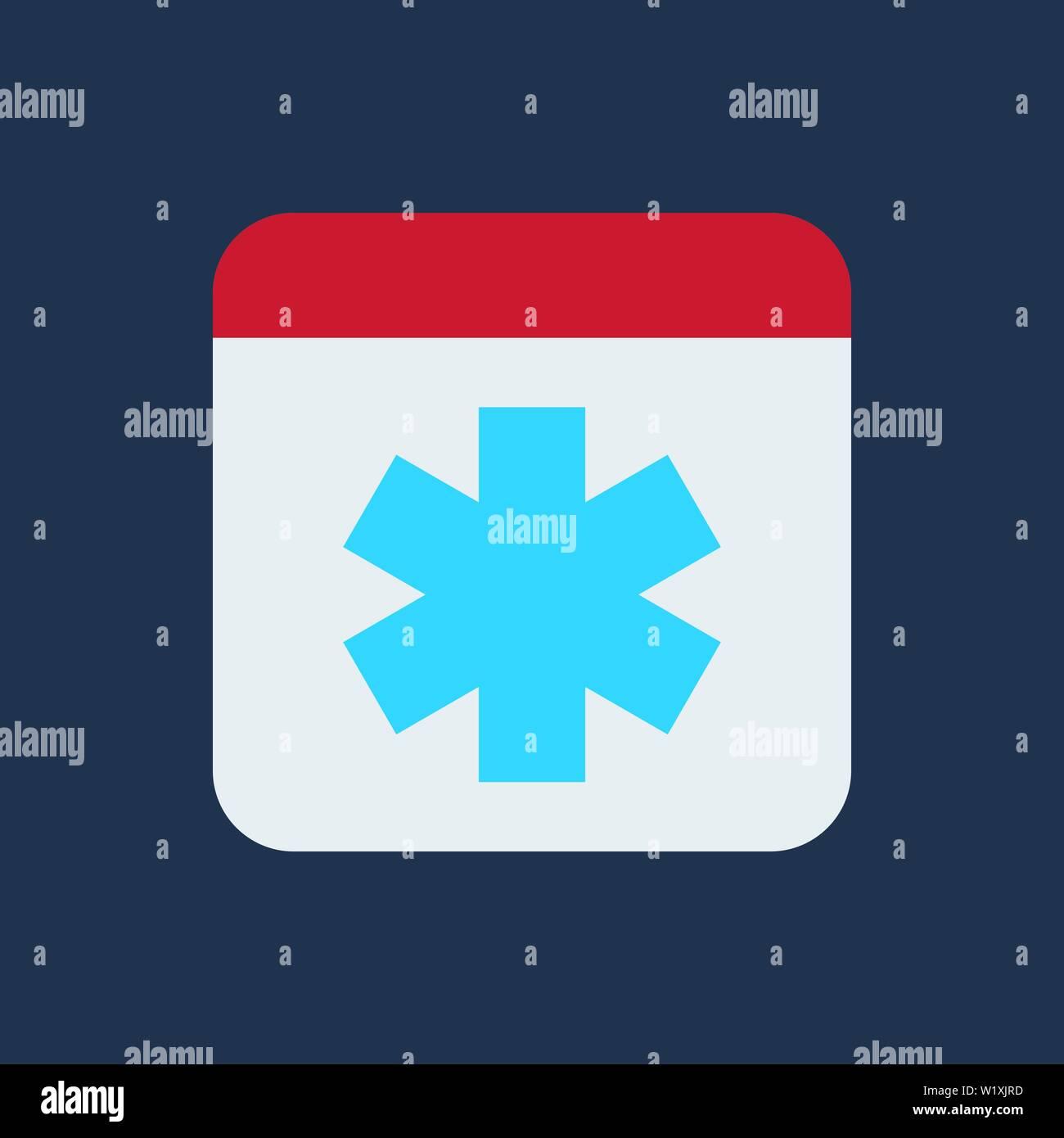 Medicine logo  First aid icon  Flat design style  Vector