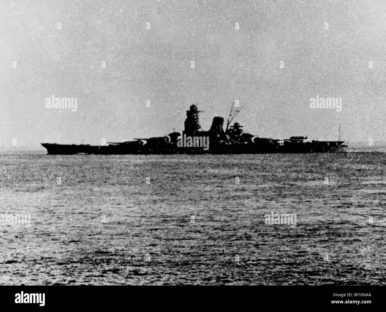 Musashi departing Brunei in October 1944 for the Battle of Leyte Gulf - Stock Image