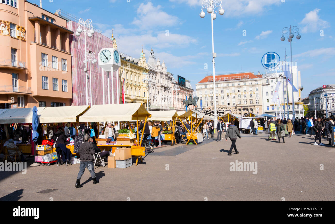 Trg Bana Jelacica Zagreb High Resolution Stock Photography And Images Alamy