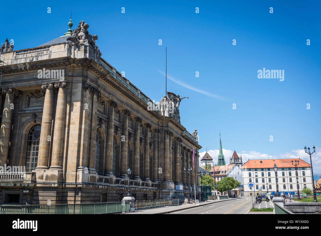 Art and history museum, the largest museum in the city, Geneva, Switzerland Stock Photo