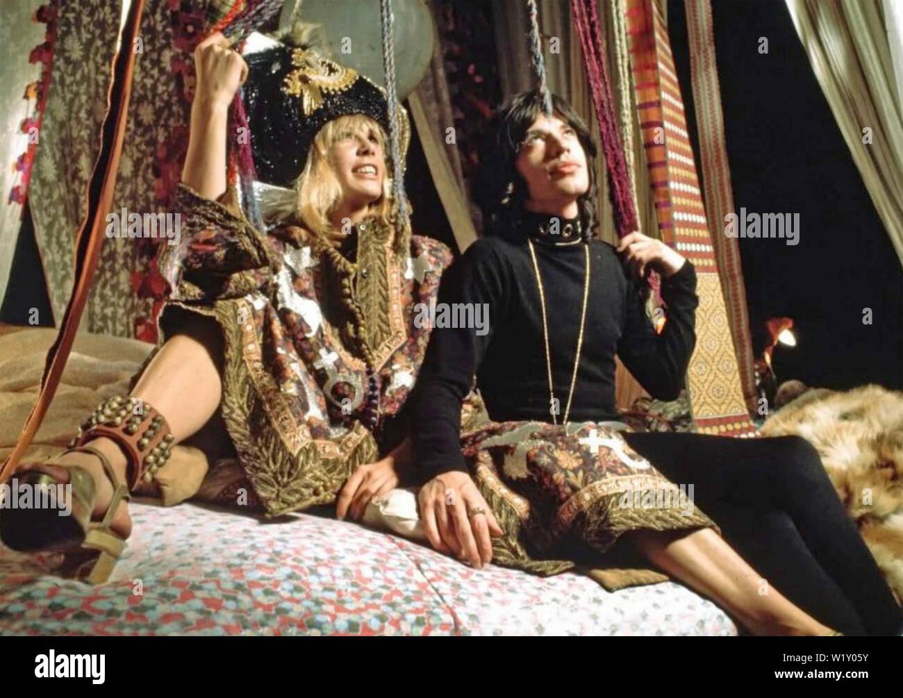 PERFORMANCE 1970 Warner Bros film with Mick Jagger and Anita Pallenberg - Stock Image
