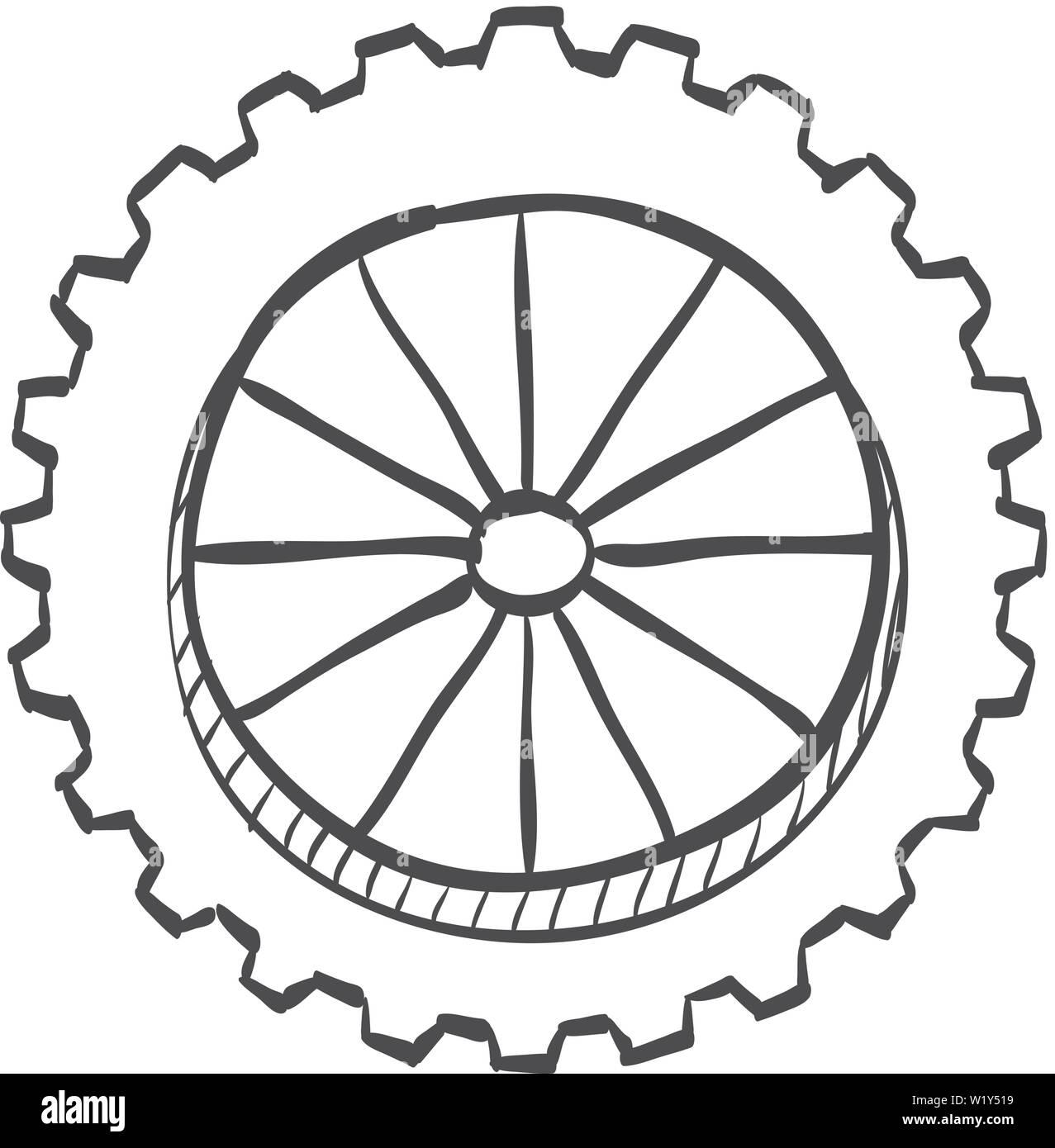 motorcycle wheel drawing