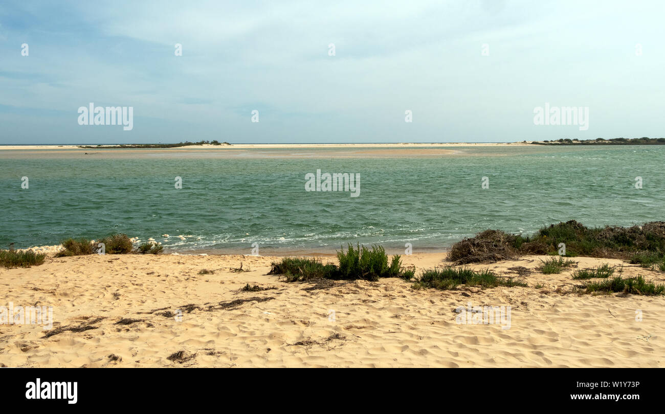 A very beautiful beach in southern Portugal Stock Photo