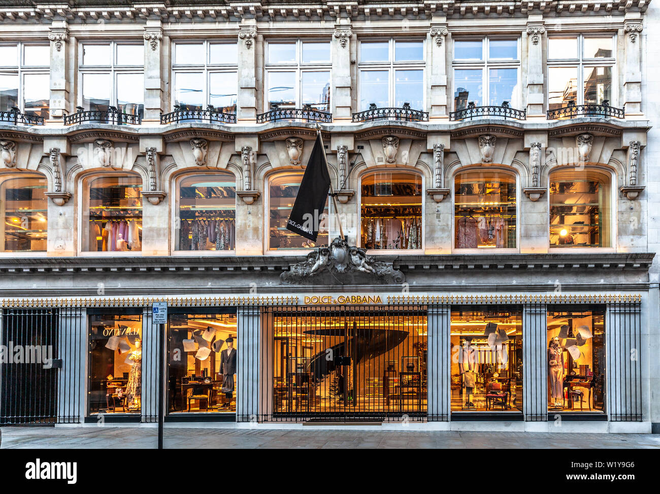Dolce & Gabbana fashion store, 53-55 New Bond St, Mayfair, London W1S 1DG, England, UK. - Stock Image