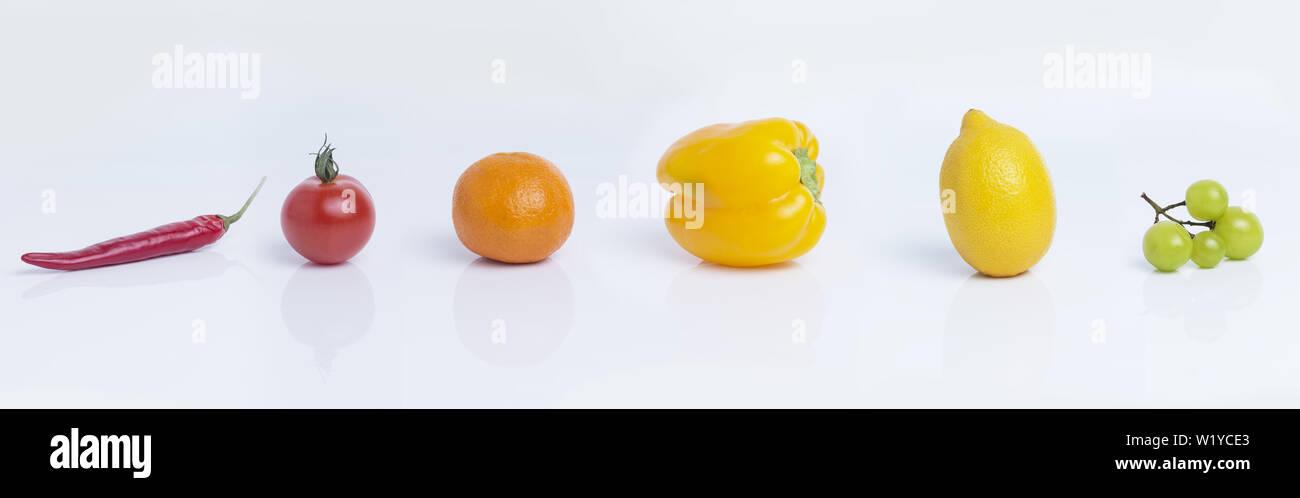 fruit isolated on white background - Stock Image